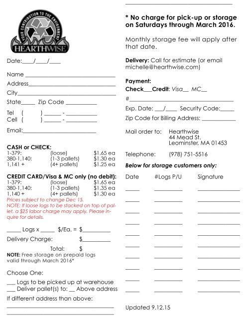 Order Form  Season